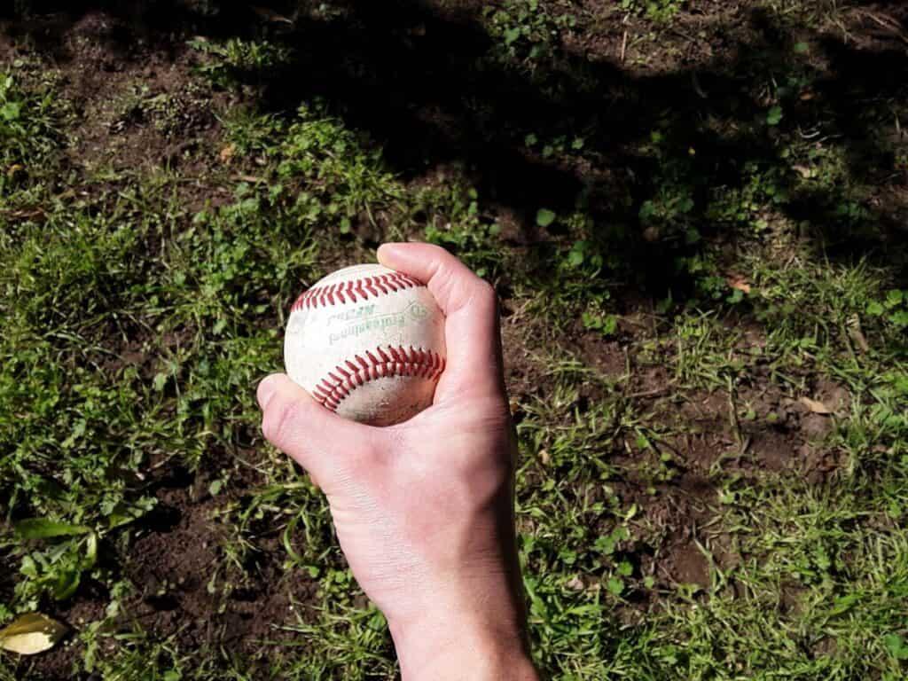 Four-seam Fastball Grip Side View