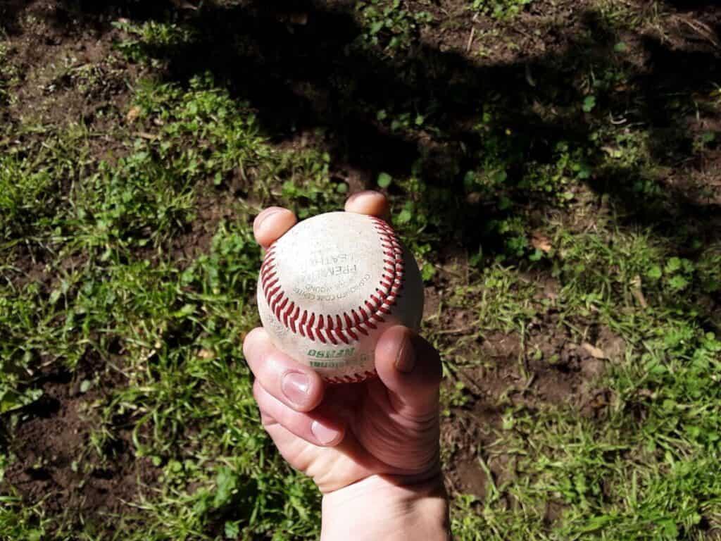 Two-Seam Fastball Grip Bottom View