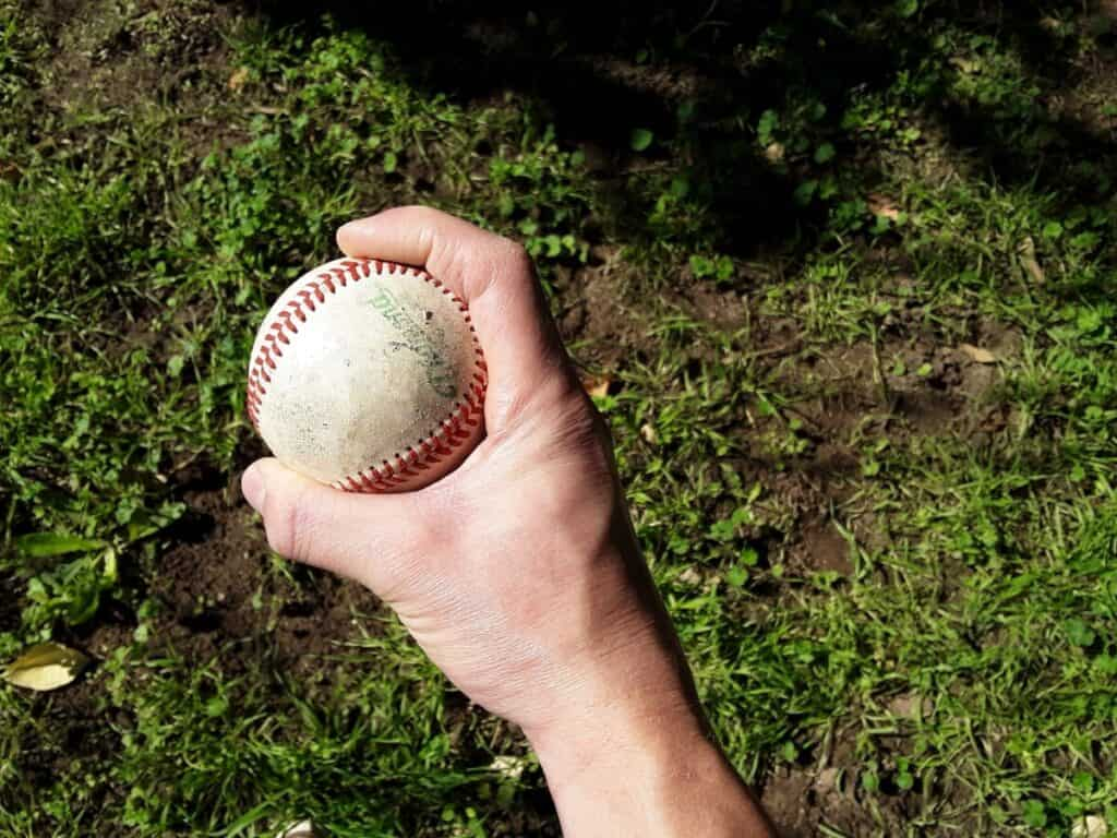 Two-Seam Fastball Grip Side View