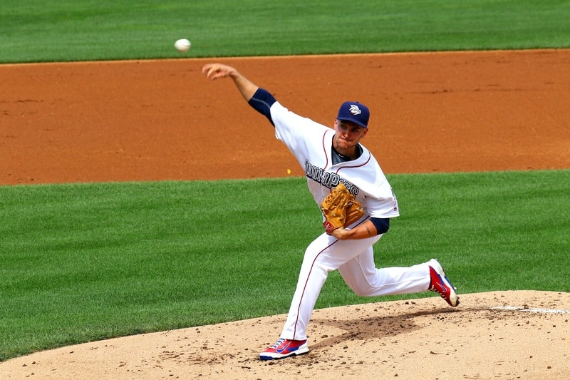 Baseball Pitcher Throwing from Mound