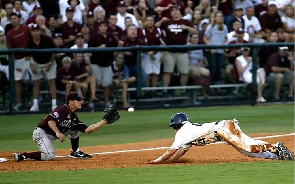 Baseball Player Relay at Third Base