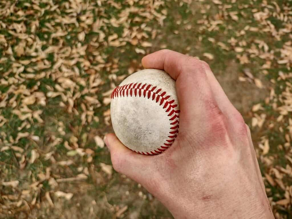 Curveball Grip Overhead View
