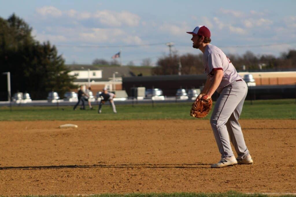 First Baseman Playing Baseball
