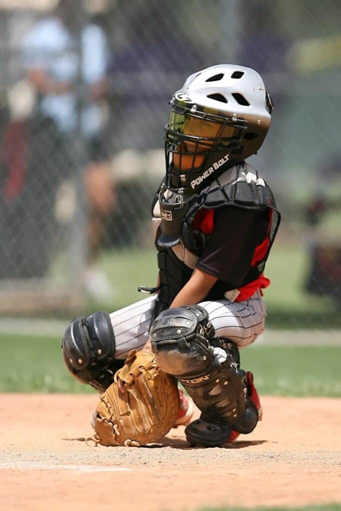 Youth Catcher Calling Pitch