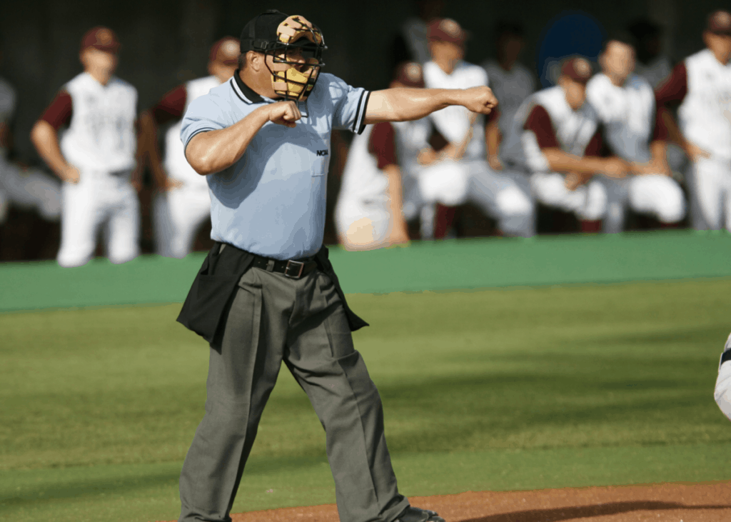 Umpire Calling a Strikeout