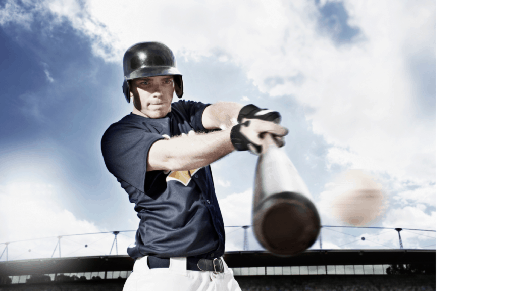 Baseball Batter Making Contact With Pitch