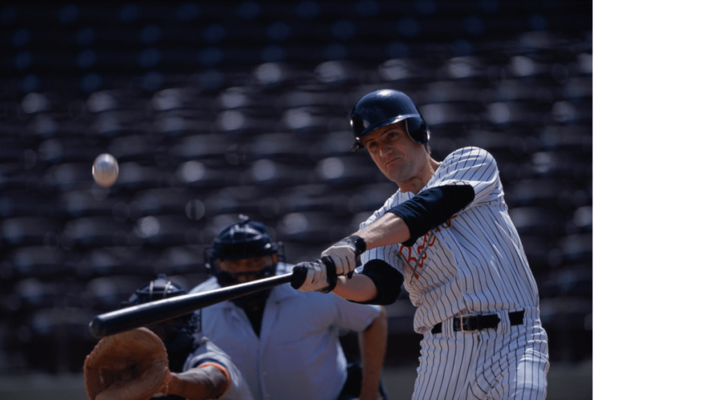 Baseball Hitter Swinging Bat