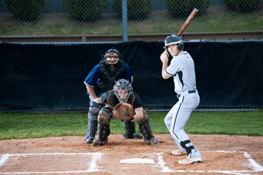 Baseball Player Ready to Hit
