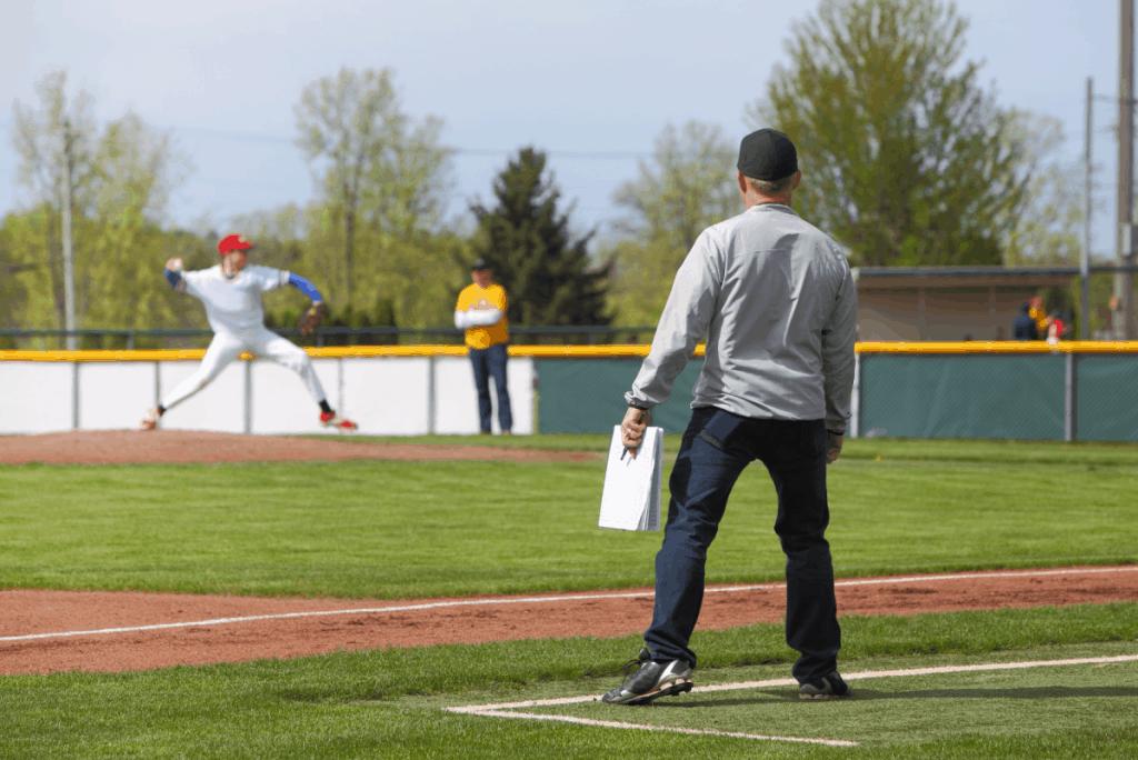 Third Base Baseball Coach