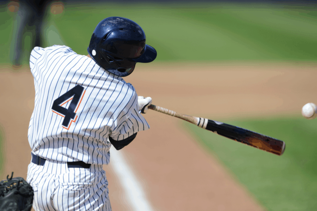 Baseball Batter Swinging Bat