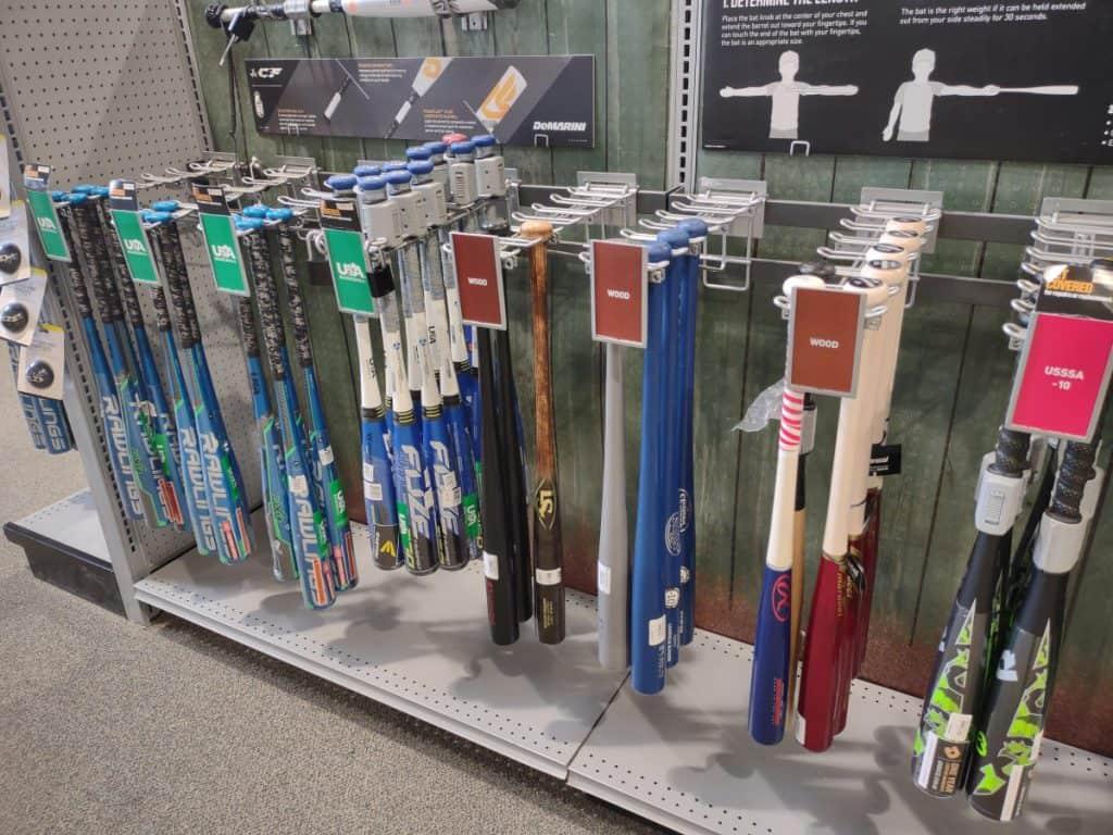 New Wood and Aluminum Baseball Bats